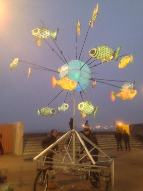Fish world at dusk
