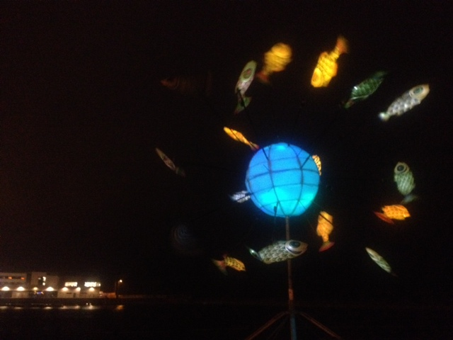 Fish world in the black of night