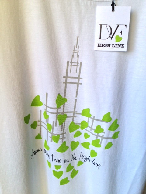 'Dreams come true on the High Line'  T shirt by designer Diane Von Furstenberg