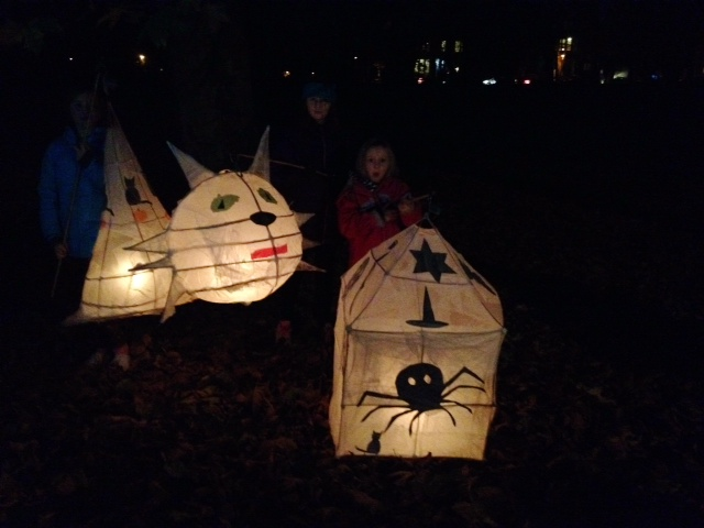 Small people with huge lanterns made for the thrilling parade