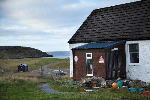 Beside the sea and closed for winter; the dormant hostel