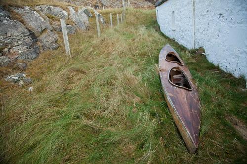 A holed canoe