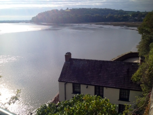 Dylan Thomas Boat House on the Taf estuary