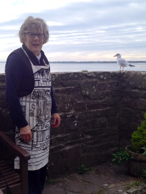 Joyce with Humpy the Gull