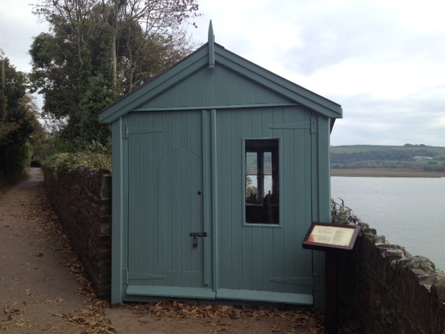 The modest writing shed where Dylan Thomas wrote 'Under Milkwood'